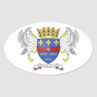 Brasão de Barthelemy do santo Adesivo Oval