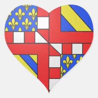 Brasão de Bourgogne (France) Adesivos De Corações