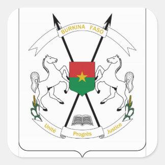 Brasão de Burkina Faso Adesivo Em Forma Quadrada