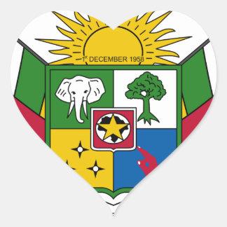 Brasão de Central African Republic Adesivos Em Forma De Corações