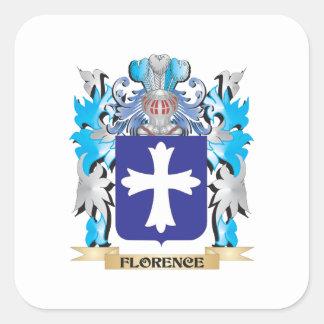 Brasão de Florença - crista da família Adesivos Quadrados