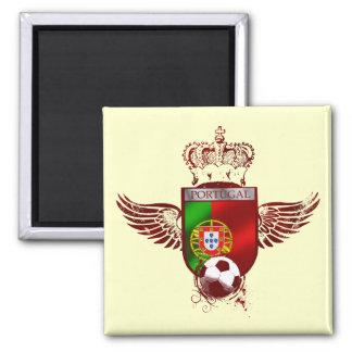 Brasão de Futebol Fás Portugueses Ímã Quadrado