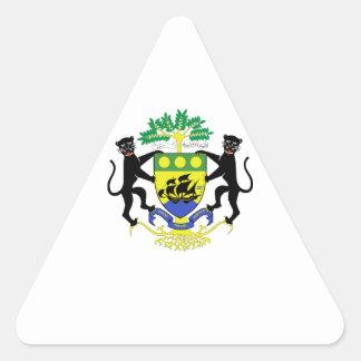 Brasão de Gabon Adesivo Triângulo