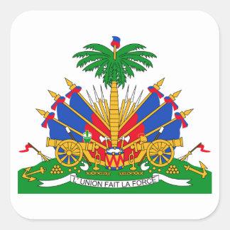 Brasão de Haiti Adesivo Quadrado
