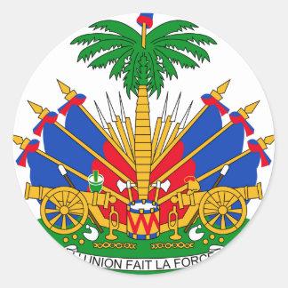 Brasão de Haiti Adesivos Redondos