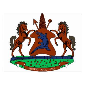 Brasão de Lesotho Cartão Postal