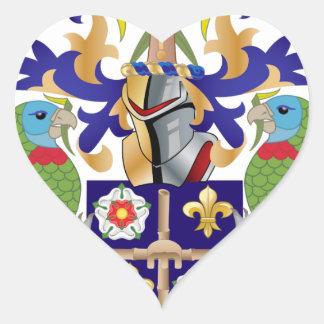 Brasão de Lucia de santo Adesivos De Corações