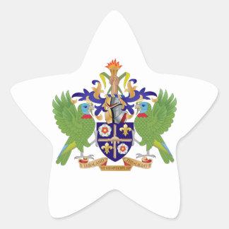 Brasão de Lucia de santo Adesivo Estrela
