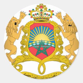 Brasão de Marrocos Adesivos Em Formato Redondos