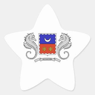 Brasão de Mayotte (France) Adesivo Em Forma De Estrela