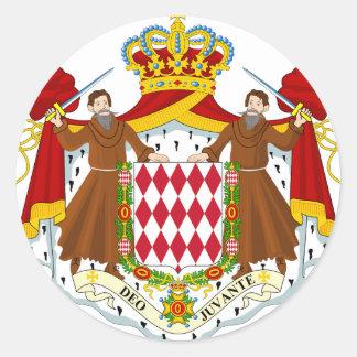Brasão de Monaco Adesivos Em Formato Redondos