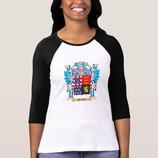 Brasão de Neves - crista da família T-shirts