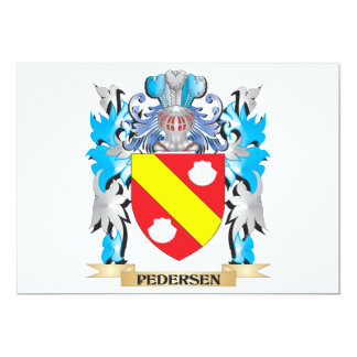 Brasão de Pedersen - crista da família Convites