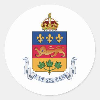 Brasão de Quebeque (Canadá) Adesivos Redondos