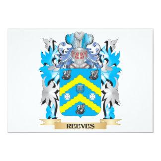Brasão de Reeves - crista da família Convite Personalizados