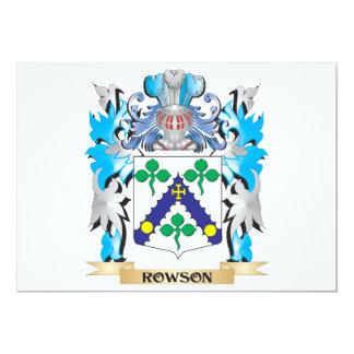 Brasão de Rowson - crista da família Convites