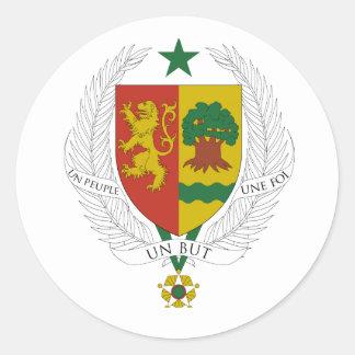 Brasão de Senegal Adesivos Redondos
