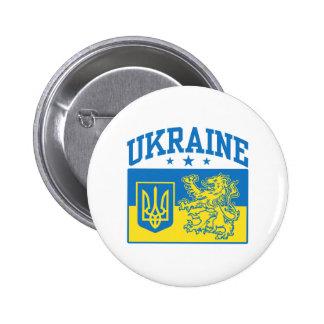 Brasão de Ucrânia Bóton Redondo 5.08cm