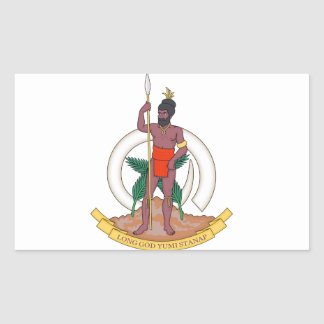 Brasão de Vanuatu Adesivo Retangular