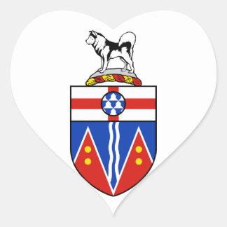 Brasão de Yukon Adesivo Em Forma De Coração