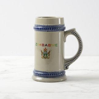 Brasão de Zimbabwe Caneca De Cerveja
