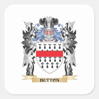 Brasão do botão - crista da família adesivo quadrado