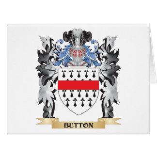 Brasão do botão - crista da família cartão comemorativo grande