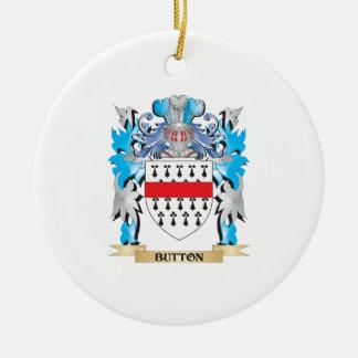 Brasão do botão ornamento de cerâmica redondo