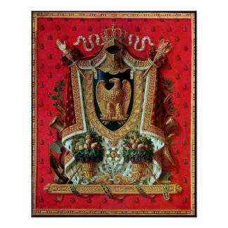 Brasão do império francês poster