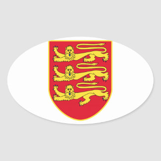 Brasão do jérsei (Reino Unido) Adesivo Oval