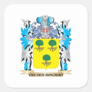 Brasão do Van-Antro-Bogaert - crista da família Adesivo Quadrado