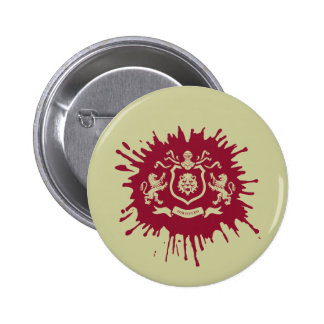 Brasão heráldica medieval dos leões - botão bóton redondo 5.08cm