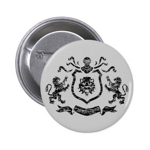 Brasão medieval - botão botons