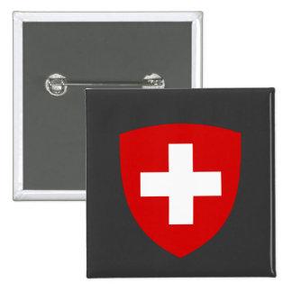 Brasão suíça - lembrança da suiça bóton quadrado 5.08cm