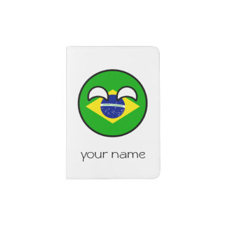 Brasil Geeky de tensão engraçado Countryball Capa Para Passaporte