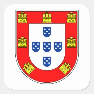 Brazão Portugal Adesivo Quadrado