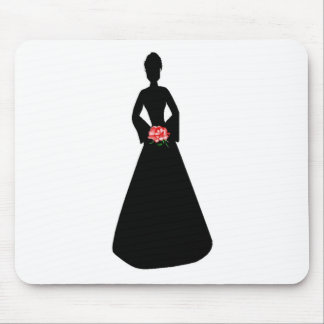 Bridal Silhouette Mouse Pads