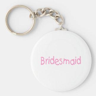 Bridemaid (rosa) chaveiro