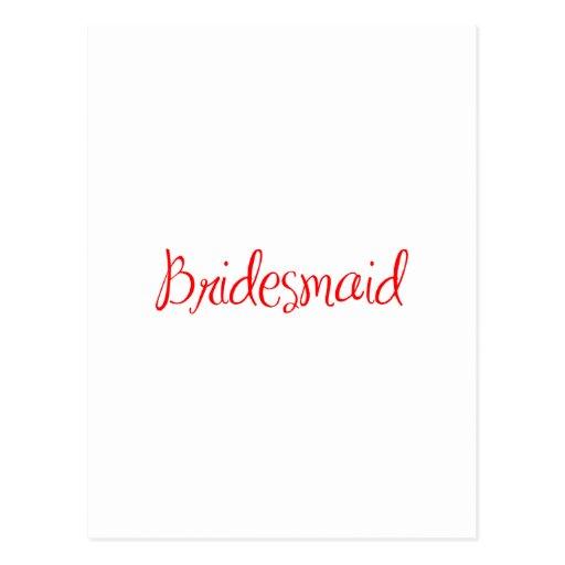 bridesmaid-sexy-red.png cartões postais