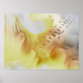Bridge of Birds Abstract Art Pôsteres