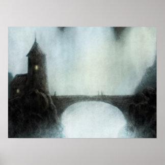 bridgefalls que encontram o poster da paisagem da