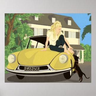 Brigitte Bardot juega con su perro Impresiones