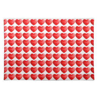 Brilhante do vermelho de Coração Suporte Para Pratos