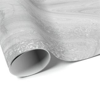 Brilhante metálico derretido de mármore cinzento papel de presente