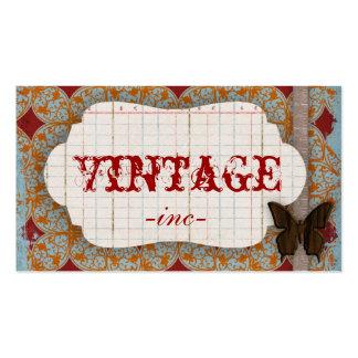 Brilhante, o vintage inspirou cartões de visitas