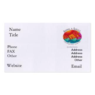 Brilhe um centro de assistência claro cartão de visita