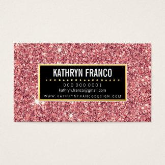 Brilho à moda bonito do rosa do ouro da FAÍSCA Cartão De Visitas