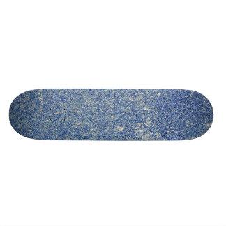 Brilho azul fabuloso shape de skate 18,7cm