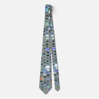 Brilho chamativo Bling de prata Sparkly Gravata