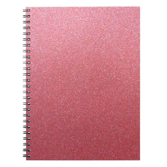 Brilho cor-de-rosa do ouro cadernos espirais